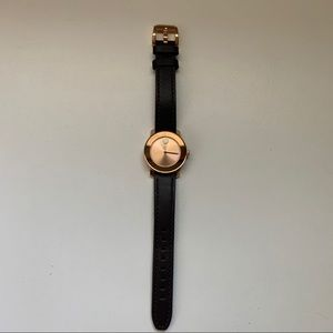 Dark Brown and Rose Gold Watch